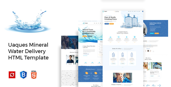 Extraordinary Uaques - Drinking Mineral Water Delivery HTML Template