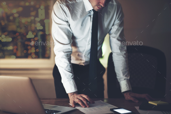 The accountant standing and working in office - Stock Photo - Images