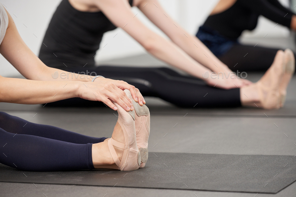 Stretching feet - Stock Photo - Images