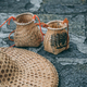 Freshly collected green tea leaves in wicker bowls - PhotoDune Item for Sale
