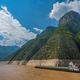 Cargo ship sailing through gorge on Yangtze River - PhotoDune Item for Sale