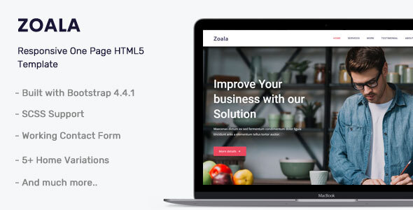 Zoala - One Page Template by themesdesign