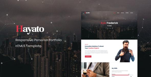 Hayato - Personal Portfolio / CV / Resume / vCard Template