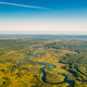 Aerial View Green Forest Woods And River Landscape In Sunny Summer Day. - PhotoDune Item for Sale