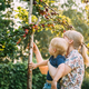 Young Woman Mother Hugging Her Baby Son And Showing Him Apple Tree - PhotoDune Item for Sale