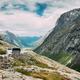 Trollstigen, Andalsnes, Norway. Bus Goes On Famous Mountain Road Trollstigen. - PhotoDune Item for Sale