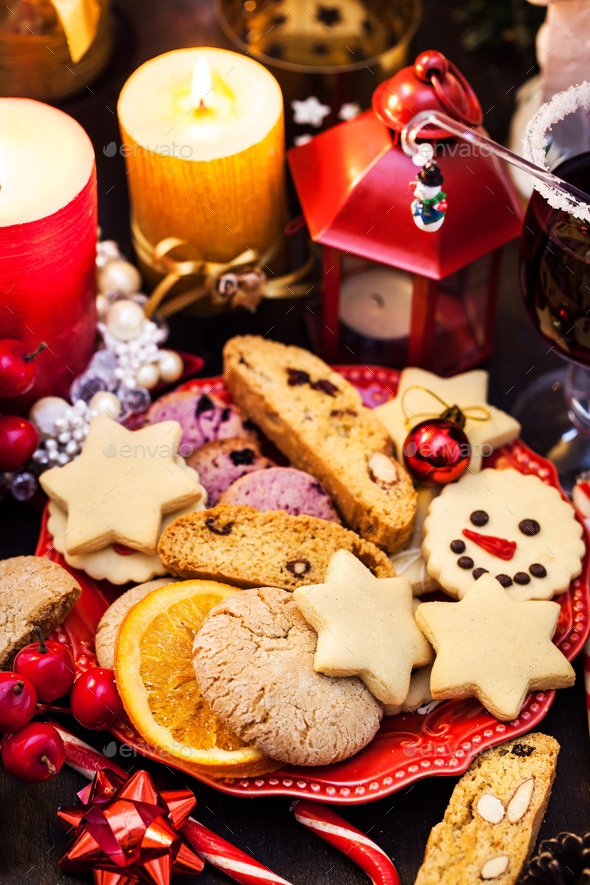 Holiday Christmas cookies - Stock Photo - Images
