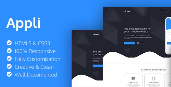 Appli - HTML5 App Landing Page