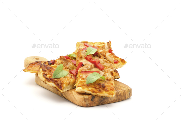Roasted Chicken Flatbread - Stock Photo - Images