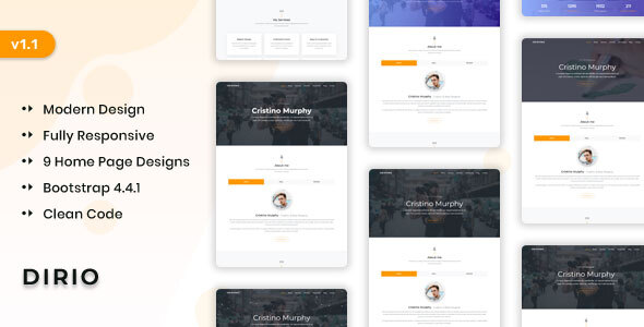 Dirio - Personal Portfolio and Resume Template by themesdesign