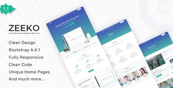 Zeeko - Landing Page Template by themesdesign