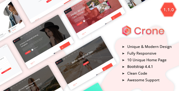 Crone - Creative Multipurpose Landing Page Template by themesdesign
