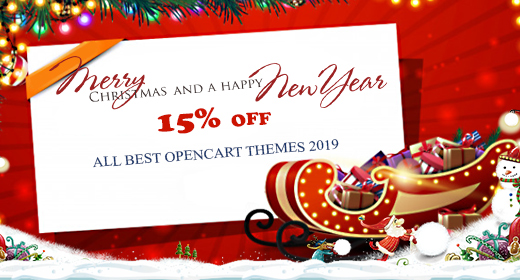 Xmas & New Year Sale Collection - Best OpenCart themes 2019