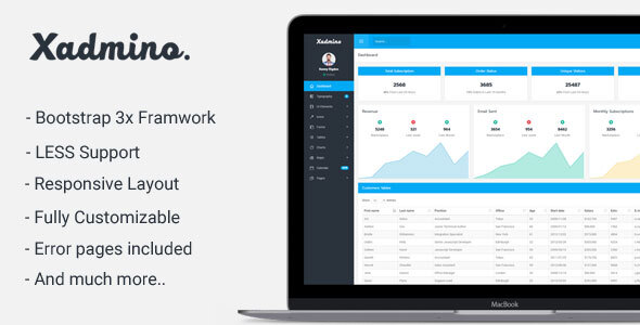 Xadmino - Admin & Dashboard Template