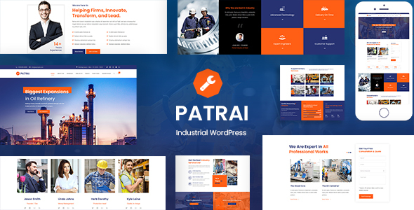 Download Patrai Industry – Industrial Manufacturer Free Nulled