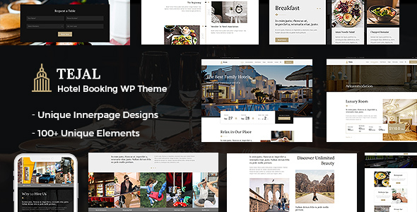 Tejal - Hotel WordPress