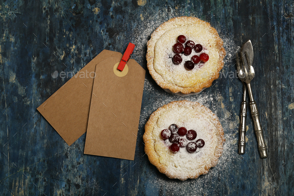 Homemade Berry Pie with Cranberries - Stock Photo - Images