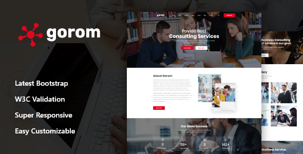 Gorom - Business & Consulting HTML Template