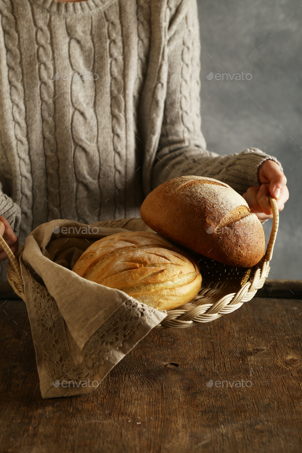 Homemade Whole Grain Rye Bread - Stock Photo - Images