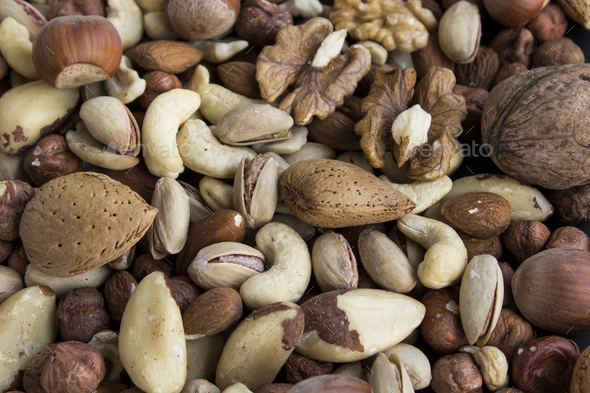 Nuts Mix as a Background - Stock Photo - Images
