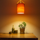 Wooden Lamp Night Light Over the Table - PhotoDune Item for Sale