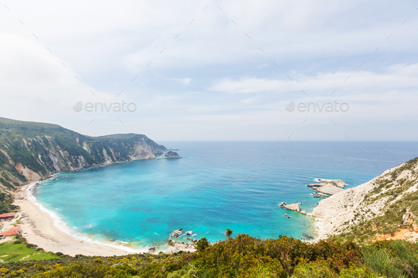 Greece coast - Stock Photo - Images