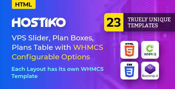 Hostiko - Hosting HTML & WHMCS Template With Isometric Design