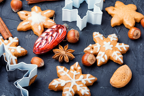 Baked Christmas cookies - Stock Photo - Images