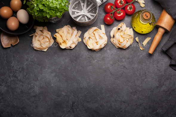 Homemade pasta making - Stock Photo - Images