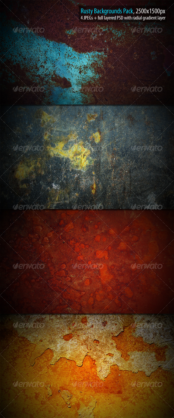 Rusty Backgrounds Pack - Urban Backgrounds