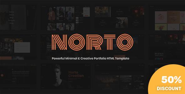 Norto - Minimal & Creative Portfolio HTML Template by KnightleyStudio