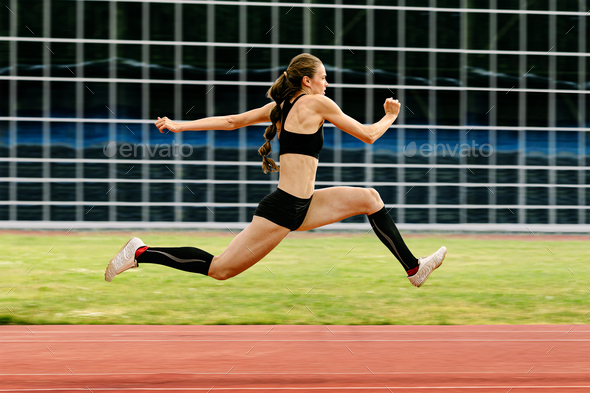 triple jump women jumper - Stock Photo - Images