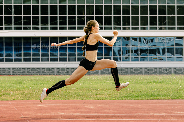triple jump women athlete - Stock Photo - Images