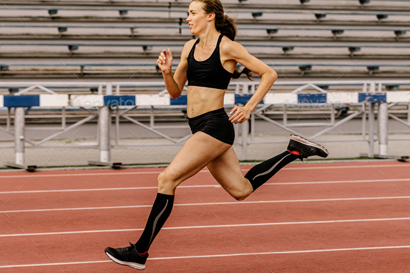 running training female athlete - Stock Photo - Images