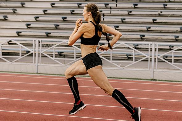 training athletics female athlete - Stock Photo - Images