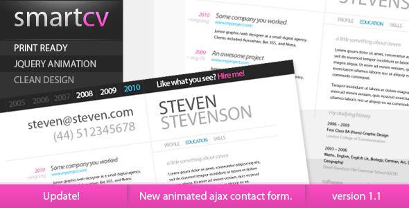 Smart CV - Resume Theme by zecchin   ThemeForest