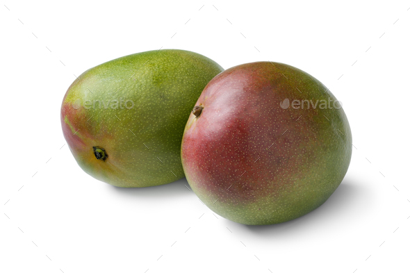 Pair of fresh whole mangoes - Stock Photo - Images