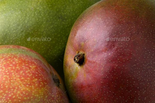 Fresh whole mangoes close up - Stock Photo - Images