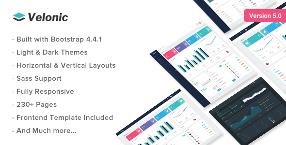 Velonic - Admin Dashboard & Frontend Template