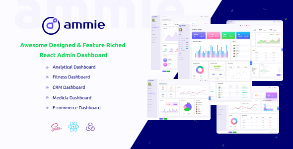 Ammie - React Admin Template by itechtheme