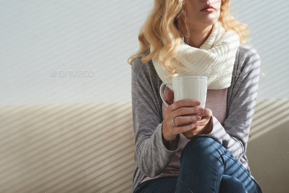Enjoying cup of coffee - Stock Photo - Images