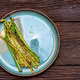 Top view delicious grilled asparagus on plate - PhotoDune Item for Sale