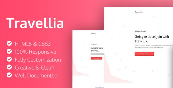 Travellia - Travel Landing Page
