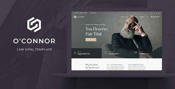 Oconnor - Lawyers and Law Firm HTML Template