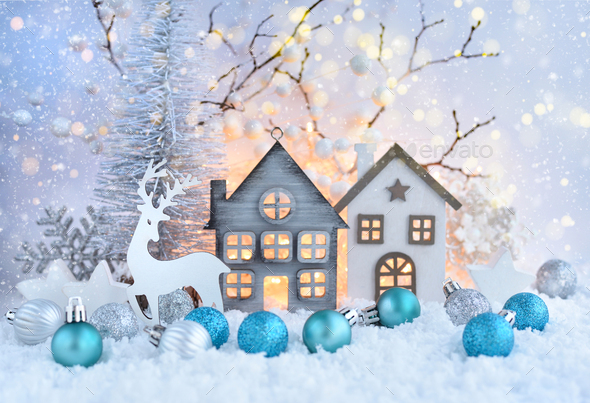 Christmas or New Year greeting card. - Stock Photo - Images