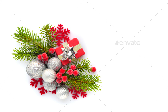 Christmas or new year composition. - Stock Photo - Images