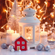 Christmas composition with lantern, candles and festive decorations - PhotoDune Item for Sale