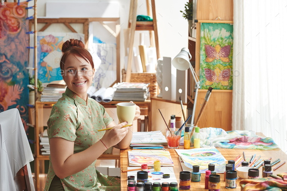 Creative young woman - Stock Photo - Images