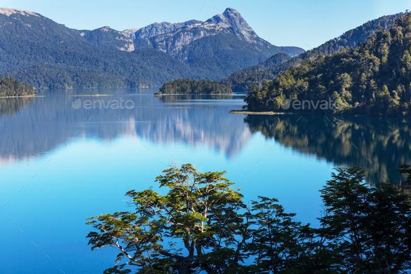 Lake in Patagonia - Stock Photo - Images