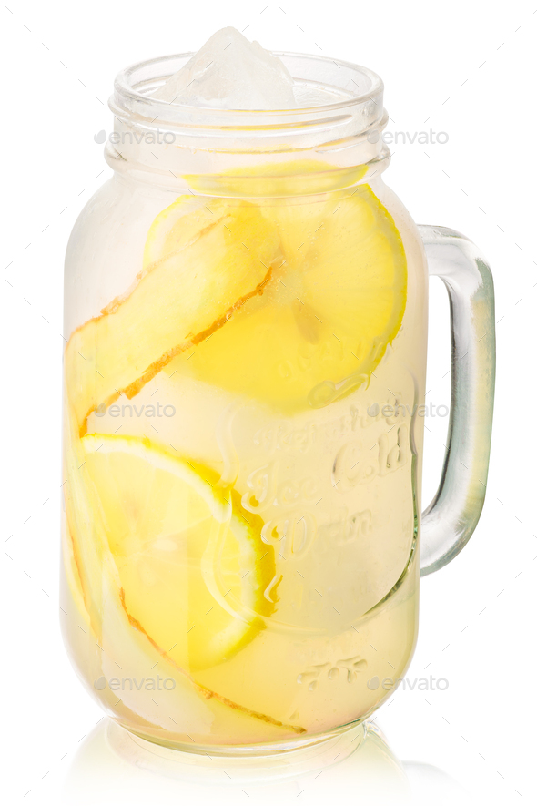 Ginger lemonade jar, paths - Stock Photo - Images